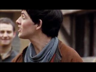 """Мерлин и Артур - ржаааааака! Вот с этой встречи и """"драки"""" - началась их Любовь!))))))"""